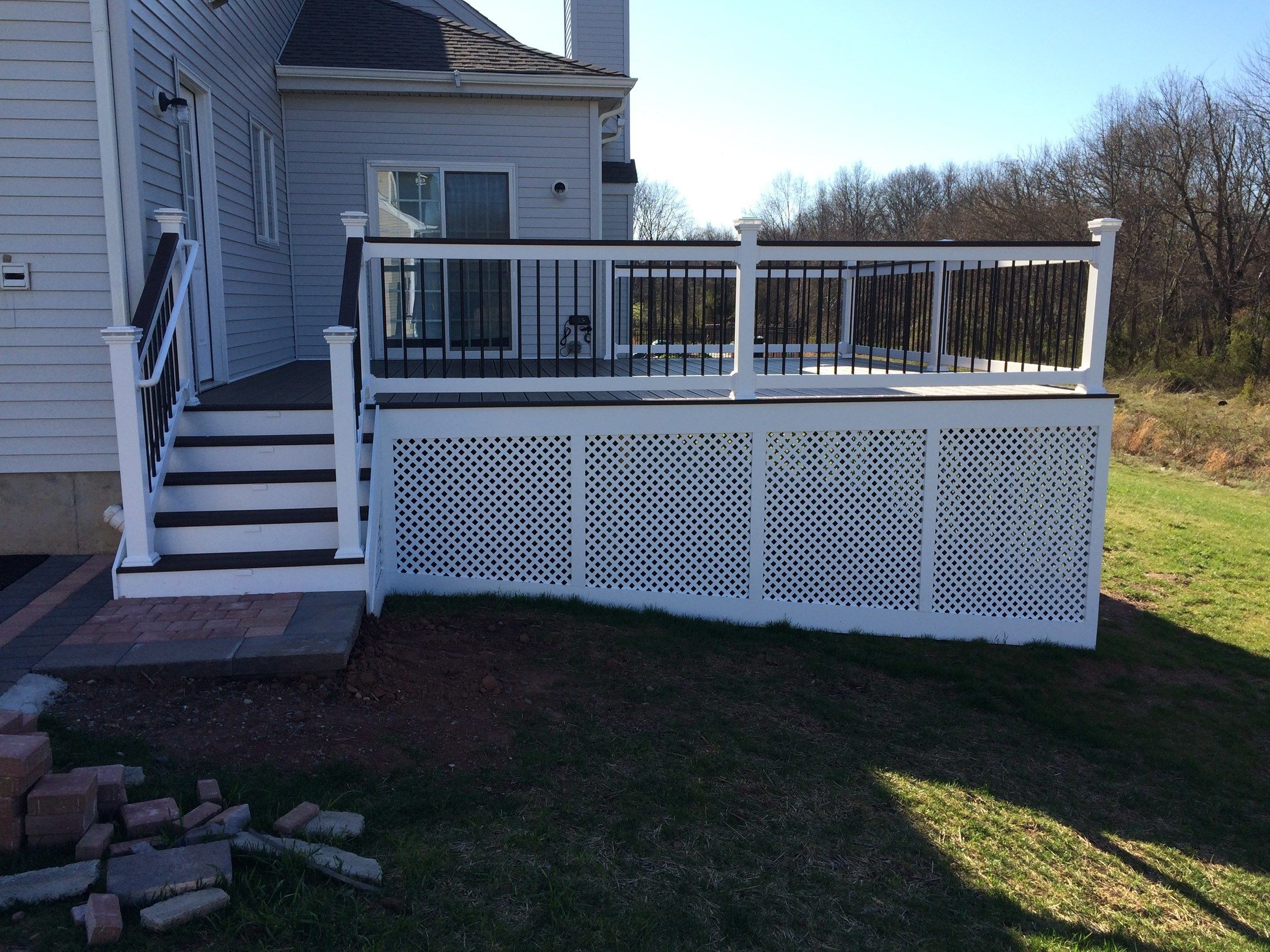 Custom deck in Hillsborough NJ - Picture 6742