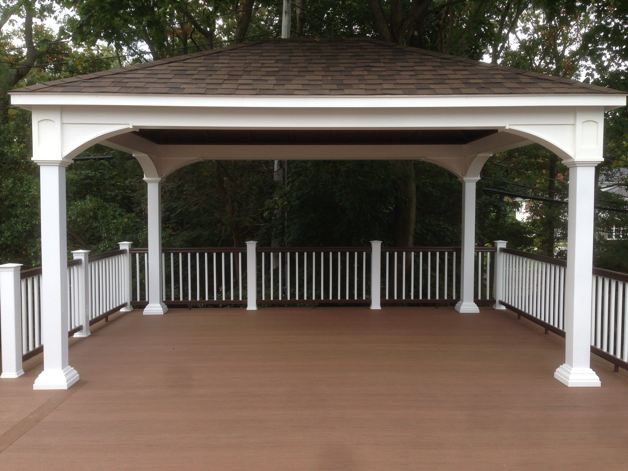 Multi-Level Deck with Pergola and Stair Accent Lighting - Picture 6763