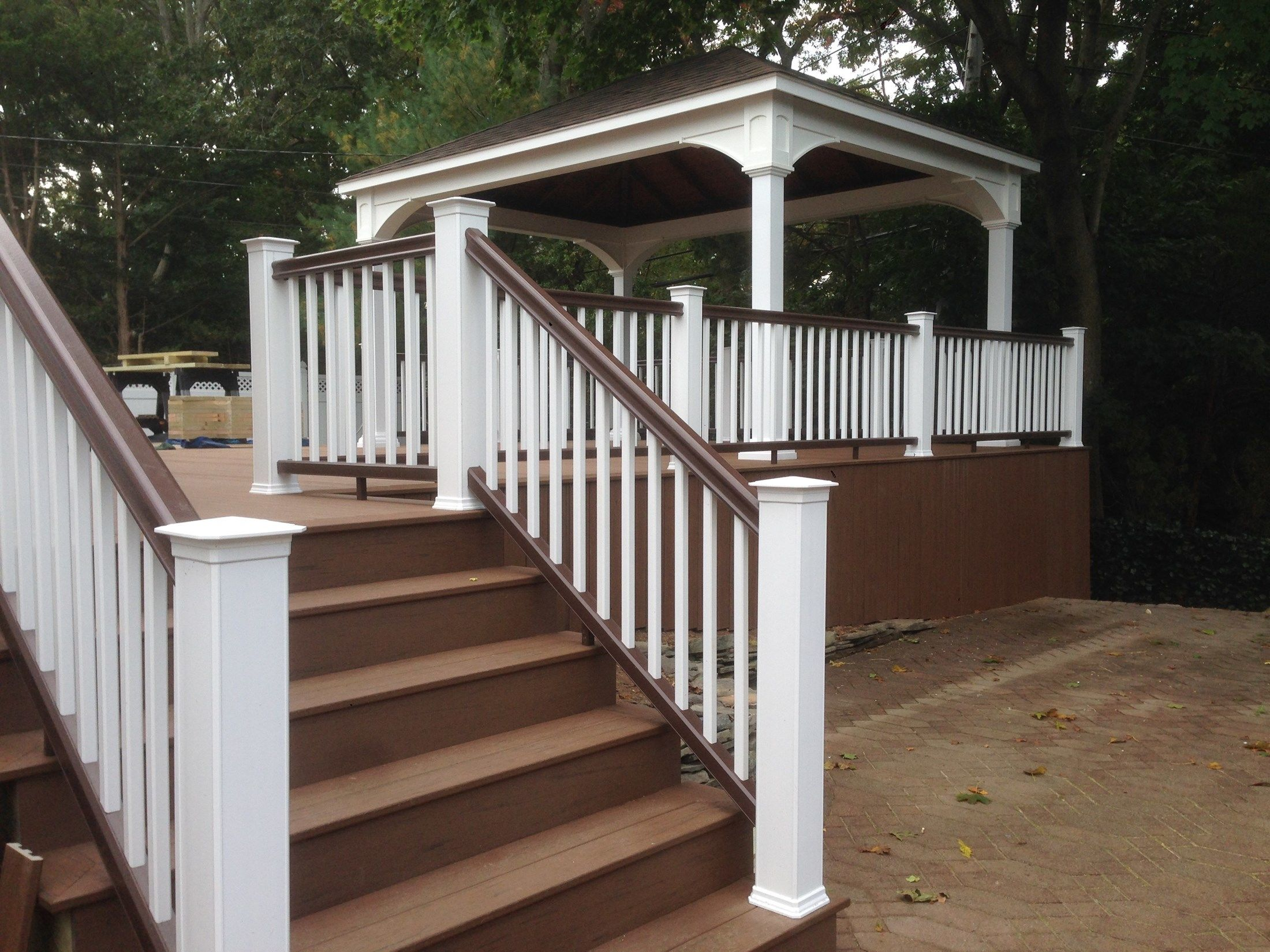 Multi-Level Deck with Pergola and Stair Accent Lighting - Picture 6764
