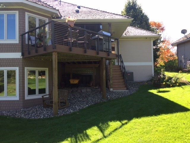 Eden Prairie Deck with Cable Railing - Picture 6857