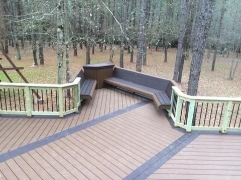 Free Standing Composit Deck In The Woods - Picture 6950