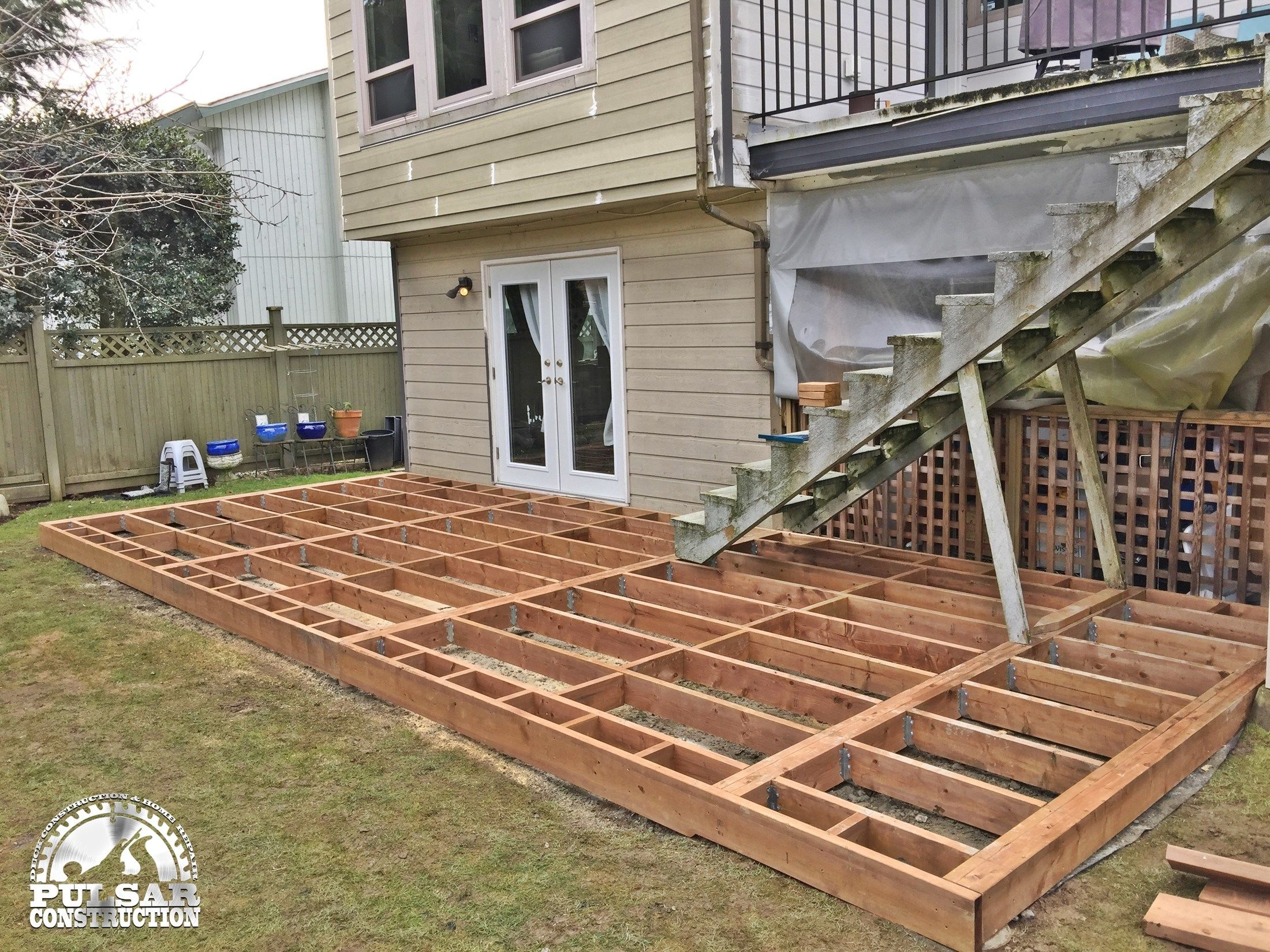 Ground Level Deck Amp Pergola Picture 7060 Decks Com