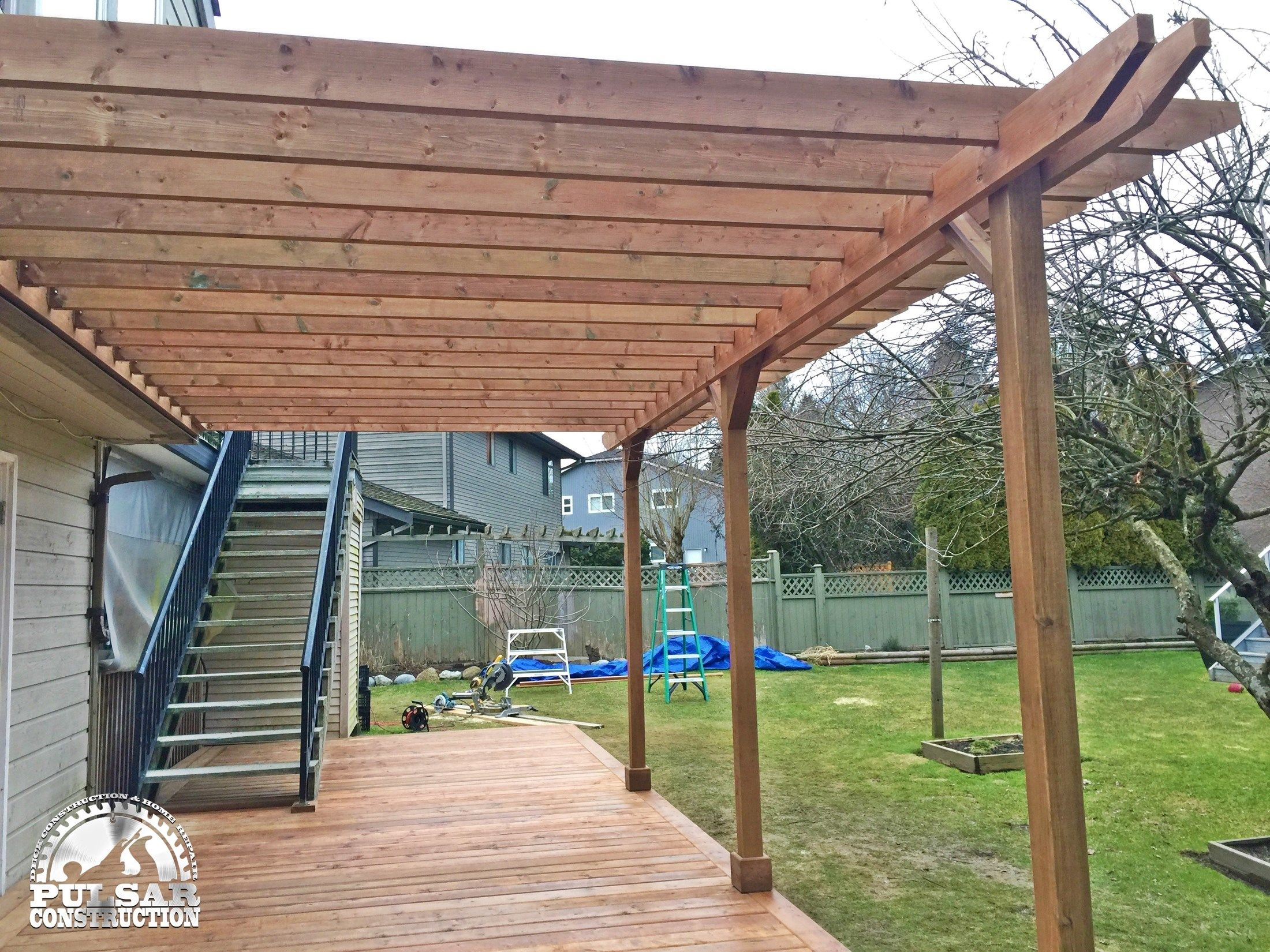Decks Com Ground Level Deck Amp Pergola Picture 7063