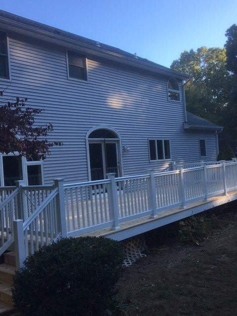 Cedar Deck with All White Trim - Picture 7092
