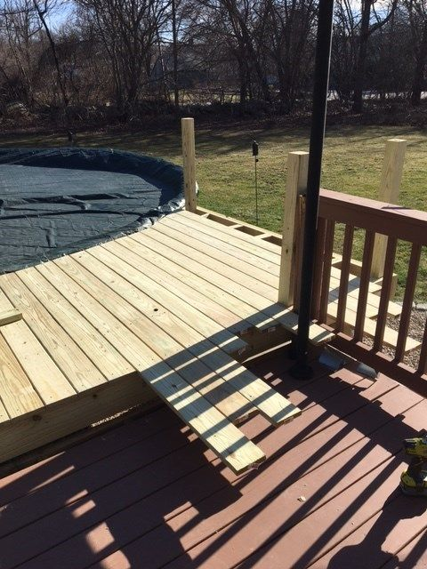 Pressure Treated Pool Deck - Picture 7095