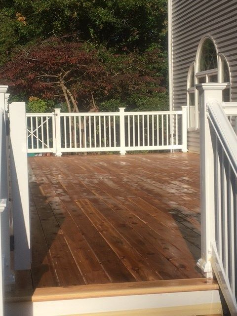 Cedar Deck with All White Trim - Picture 7096