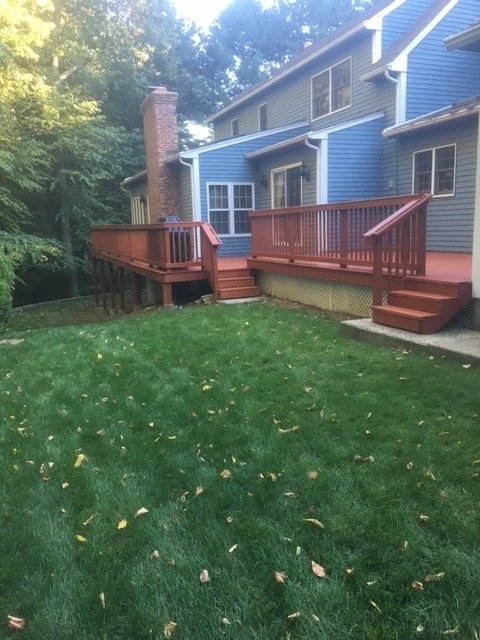 deck rebuild and stain avon ct - Picture 7098