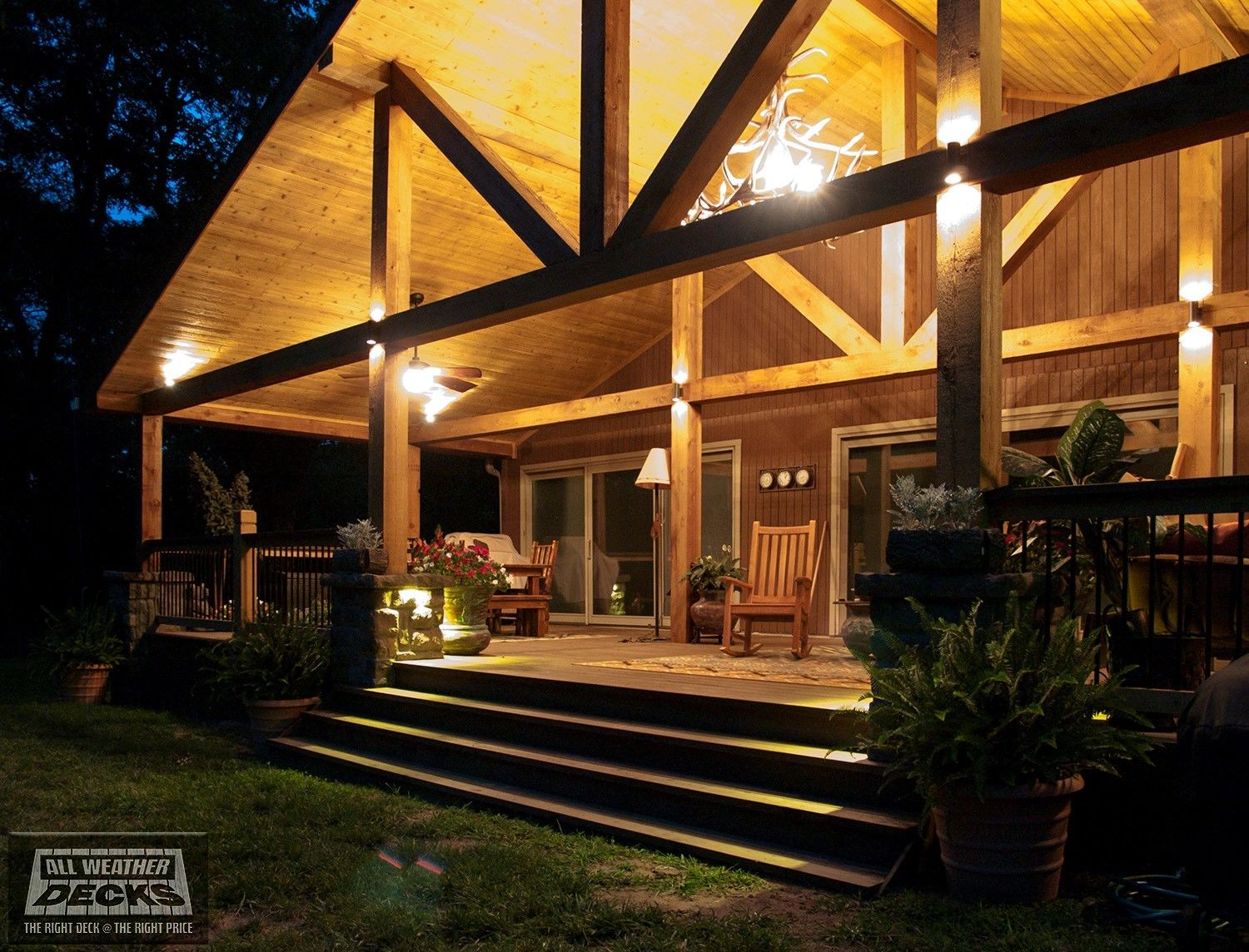 Gabled Roof Covered Deck - Picture 7675