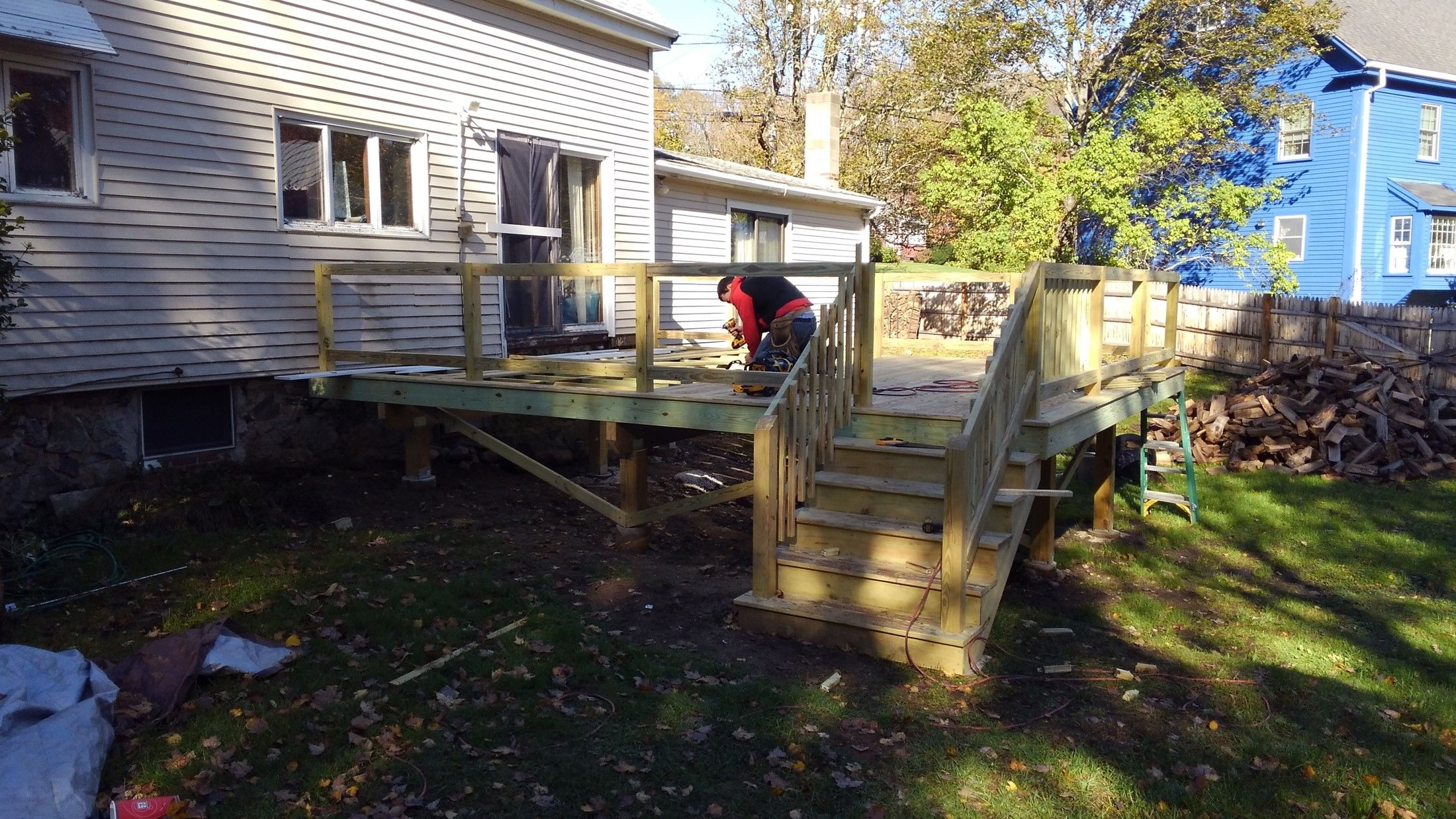 New Pressure Treated Deck - Picture 7692