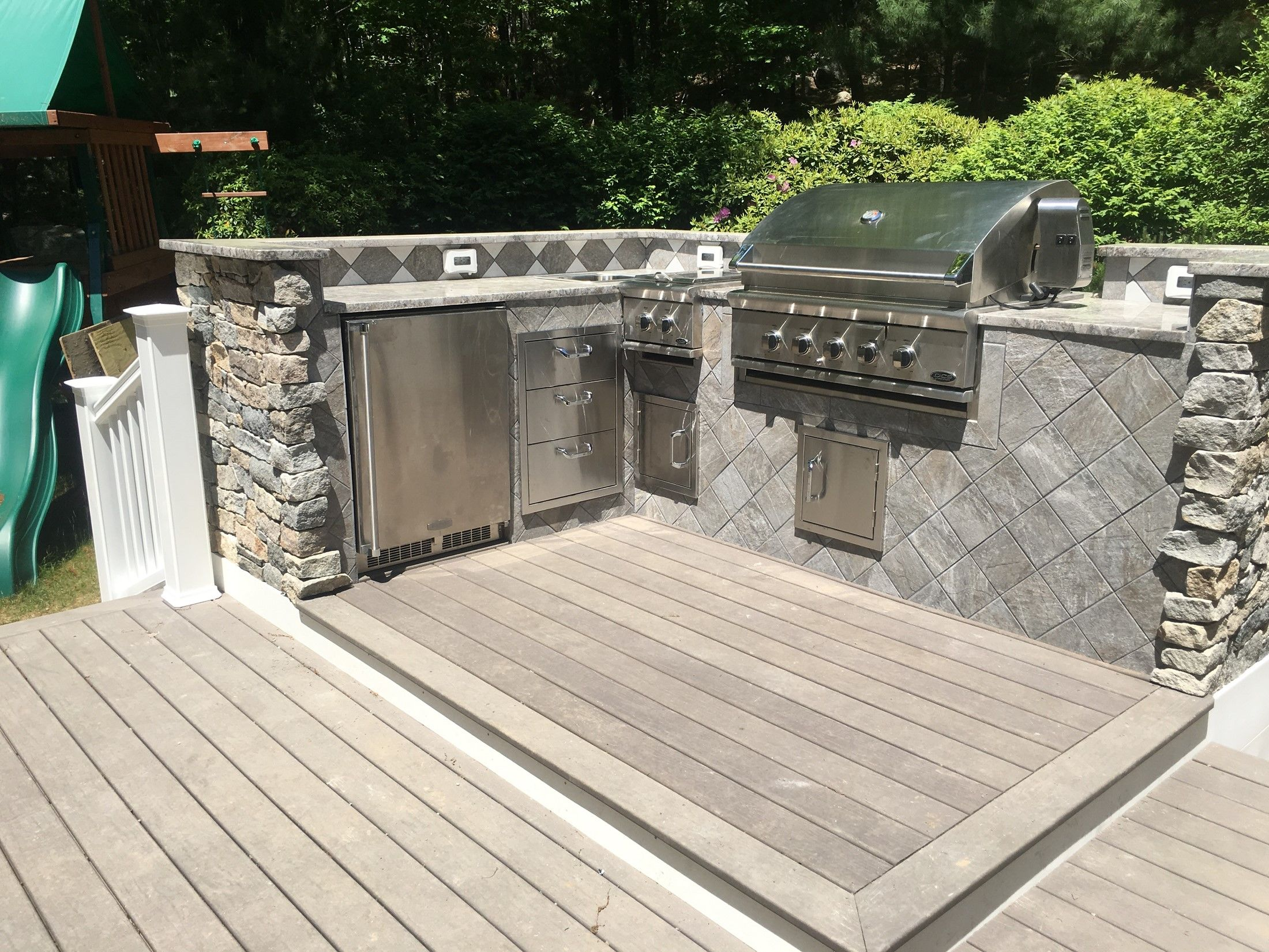 Outdoor Kitchen And Deck Picture 7757 Decks