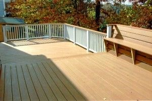3 Level Deck with built in benches - Picture 7800