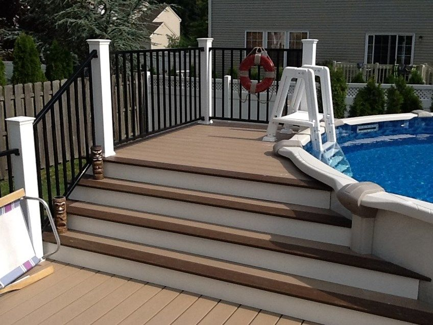 Multi Level Deck Above Ground Pool Home Design