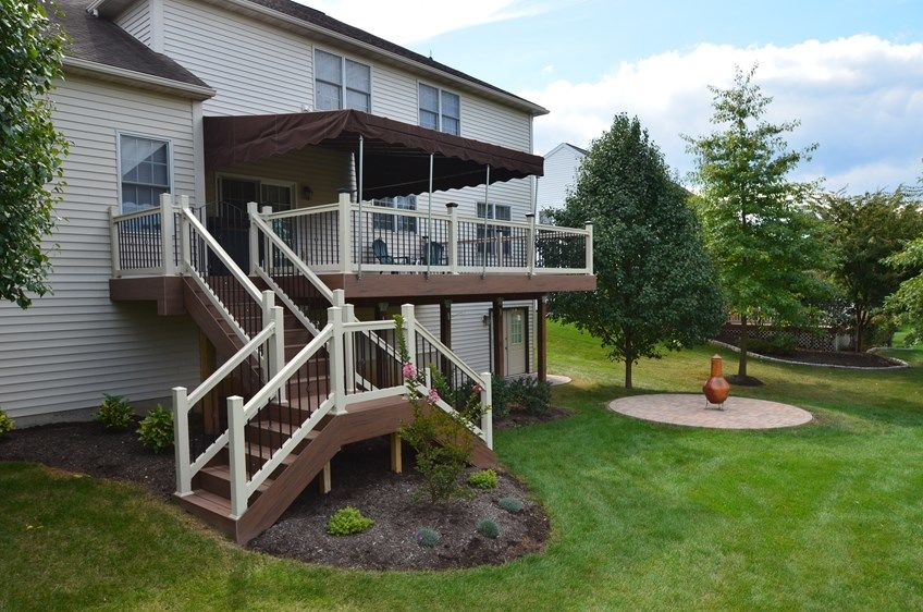 Decks Com 2nd Story Deck With Custom Stairs Picture 1784