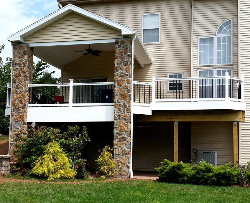 Decks Com Deck With Stone Columns Picture 1792
