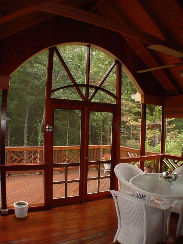Decks Com Custom Porch With Gable Roof Picture 2060