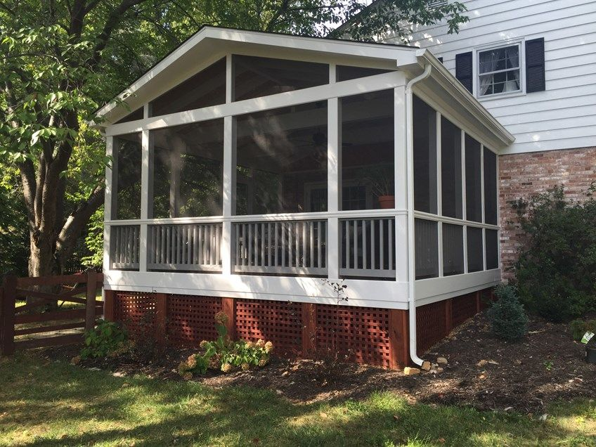 Decks Com Screen Porch Gable Roof Picture 2091