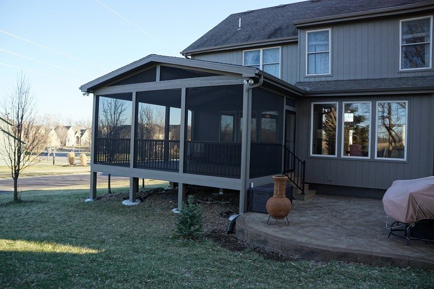 Decks Com Gable Roof Screened Porch Picture 5182