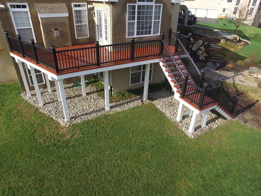 Decks Com Zuri Deck Timbertech Rail Amp Lights Picture 6516