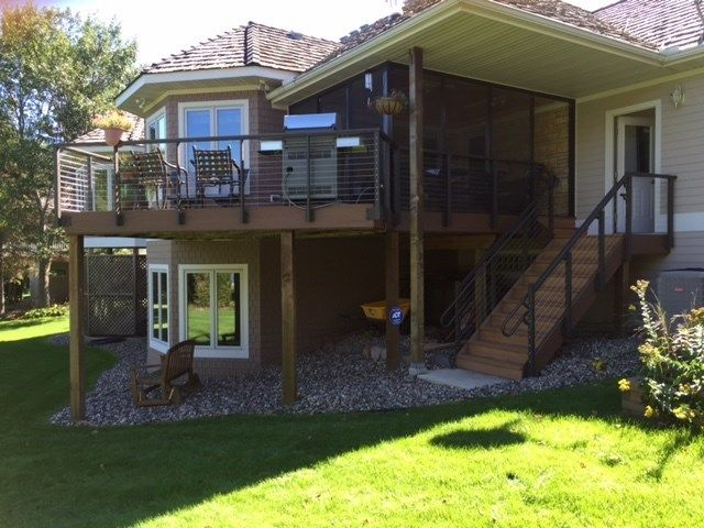 Eden Prairie Deck with Cable Railing - Picture 6856