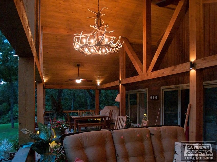 Gabled Roof Covered Deck - Picture 7673