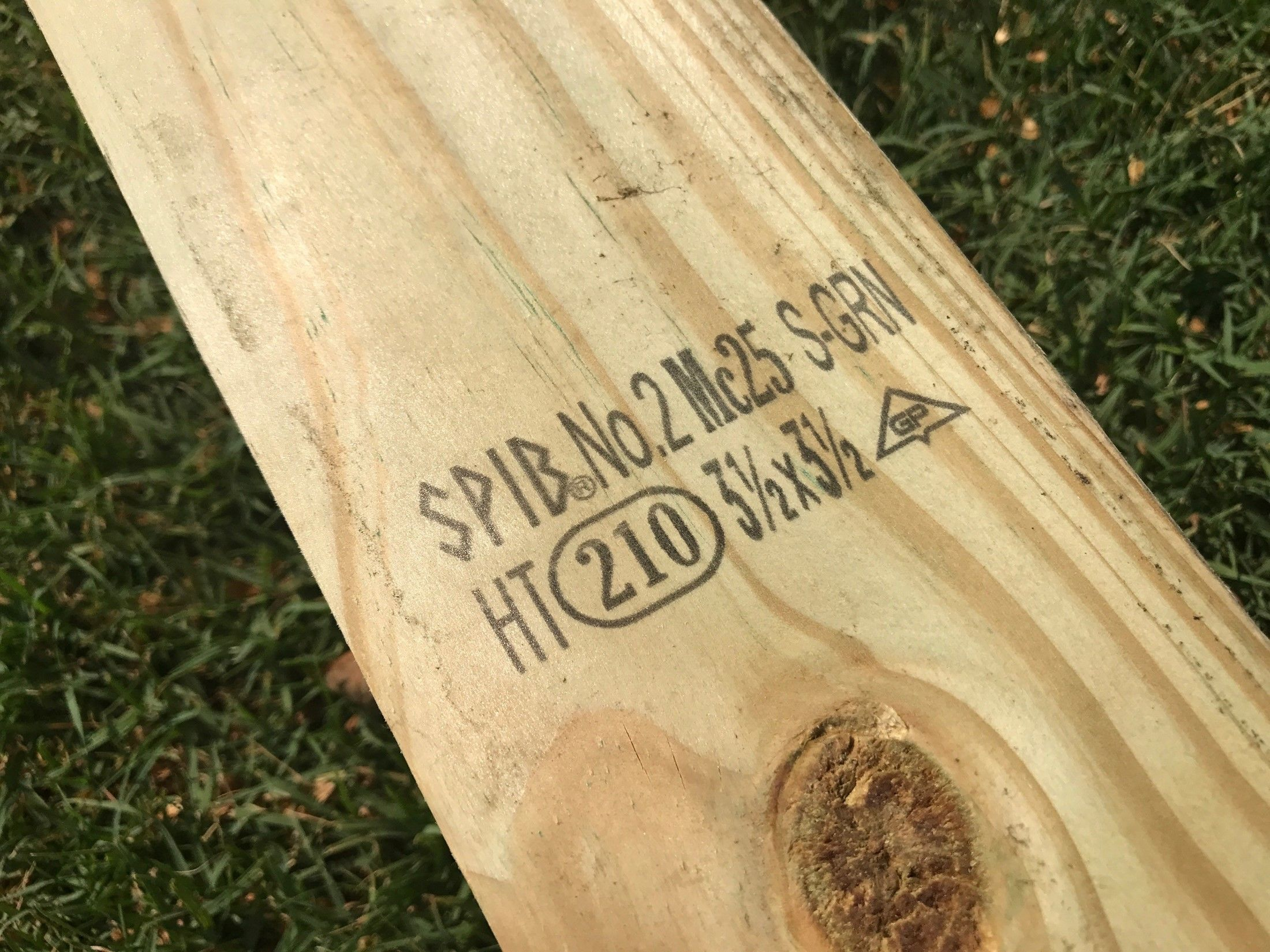 How To Ink Stamps From Pressure Treated Lumber Decks