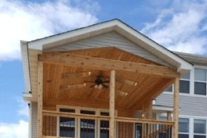 Engineered & Premade Porch Roof Trusses