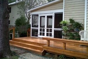 Building Built In Deck Benches Decks Com