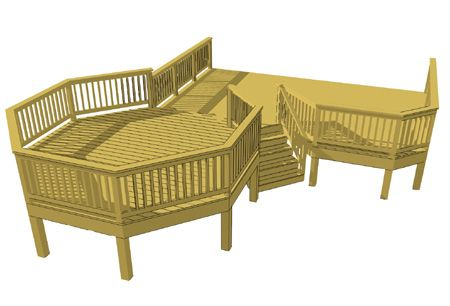 Free plans for Octagon deck plans free