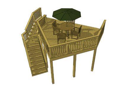 Deck plan 1l018 for High elevation deck plans