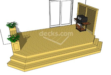 Free plans for Simple platform deck plans