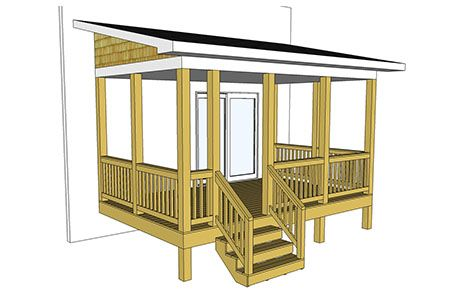 Free Deck Plans & DIY Deck Designs | Decks.com Small Mobile Home Porch Plans Diy on deck plans, diy screened in back porch ideas, mobile home covered porch plans, diy decks and porches, double wide mobile home floor plans,