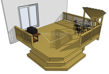 for Low elevation deck plans